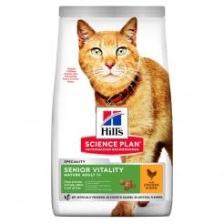 Сухой корм Hill's Science Plan Senior Vitality для пожилых кошек старше 7 лет, с курицей и рисом, 0.3кг