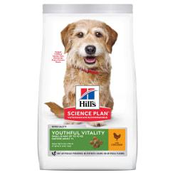 Сухой корм Hill's Science Plan Youthful Vitality для пожилых собак (7+)мелких пород для поддержания здоровья иммуной системы и активности головного мозга с курицей и рисом, 0.25 кг
