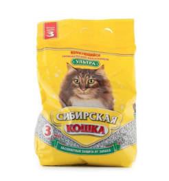 Наполнитель Сибирская Кошка Ультра комкующийся, 3л