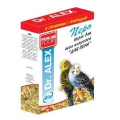 Корм для попугаев Доктор Алекс Перо, 0.5 кг
