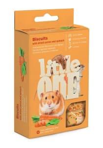 Лакомство для грызунов Little One Бисквиты с морковью, 0.035кг