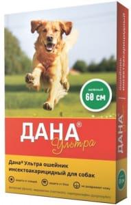Ошейник от блох ДАНА ультра для собак зеленый 60 см