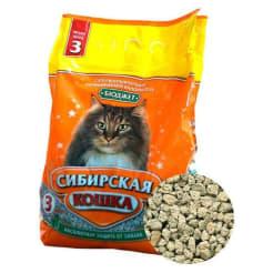 Наполнитель сибирская кошка бюджет, 3л/1.7кг