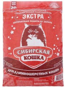Наполнитель для длинношерстных кошек Сибирская Кошка Экстра, 20л