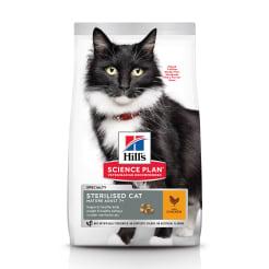 Сухой корм Hill's Sience Plan для взрослых стерилизованных кошек старше 7 лет с курицей, 0.3кг