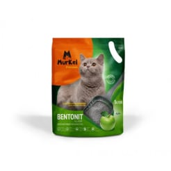 Murkel Гигиенический наполнитель для кошачьего туалета бентонит с ароматом яблока, 5л