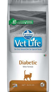 Сухой корм для кошек Farmina Vet Life Diabetic при диабете, 0.4 кг