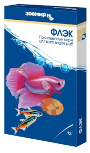 Корм для рыб ЗООМИР Флэк хлопья 12 гр