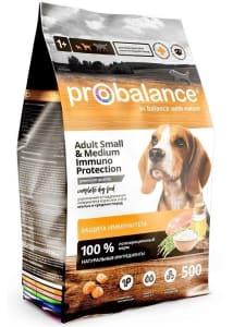 ПРОБаланс Immuno сухой корм для собак  ,для мелких и средних пород, 0,5кг