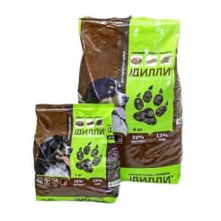 Сухой корм для взрослых собак Дилли со вкусом гуляша с овощами, 1кг