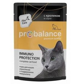 ПРОБаланс консервы для кошек кролик в соусе, 0.085кг