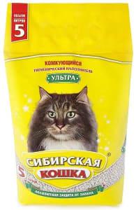 Наполнитель Сибирская Кошка Ультра комкующийся, 5л