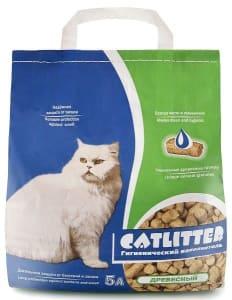 Наполнитель Сибирская Кошка Catlitter древесный, 5л
