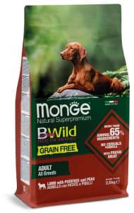 Monge Dog BWild GRAIN FREE беззерновой корм из мяса ягненка с картофелем и горохом для взрослых собак всех пород 2,5 кг