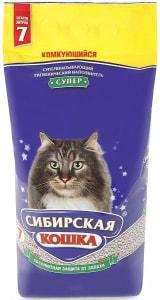 Наполнитель Сибирская Кошка Супер комкующийся, 7л