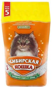 Наполнитель сибирская кошка бюджет, 5л/2.2кг
