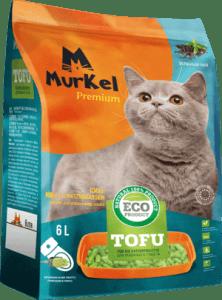 Murkel гигиенический наполнитель для кошачьего туалета, тофу с ароматом зеленного чая, 6л