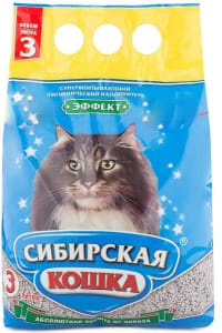 Наполнитель Сибирская Кошка Эффект, 3л