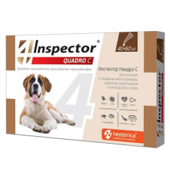Капли на холку Inspector Quadro для собак 40 - 60 кг