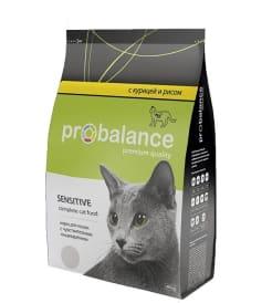 ПРОБаланс Sensitive сухой корм для кошек с чувствствительным пищеварением, 0,4кг