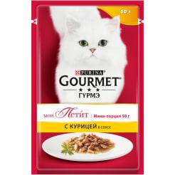 Влажный корм для кошек Purina Gourmet Mon Petit, курица, 0.050кг