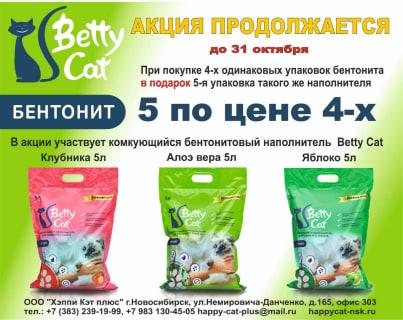 Бентонит БетиКэт 5 по цене 4