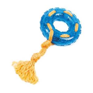 Игрушки для собак Ziver грызлик кольцо с веревкой