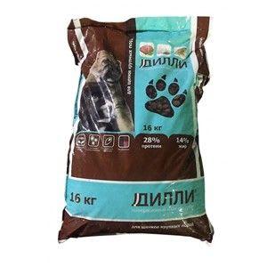 Сухой корм для щенков крупных пород Дилли, 16кг