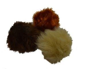 Игрушка для кошек мяч из меха 7 см № 601 СИБАГРО