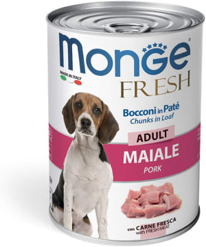 Monge Dog Fresh Chunks in Loaf консервы для собак мясной рулет свинина 400г