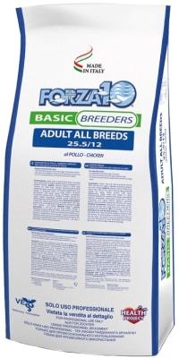 Сухой корм Forza 10 Breeders Basic pollo для взрослых собак всех пород с курицей, 20кг