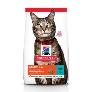 Сухой корм Hill's Science Plan для взрослых кошек для поддержания жизненной энергии и иммунитета с тунцом, 0.3 кг