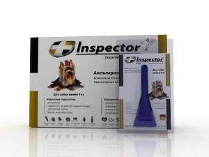 Капли на холку Inspector для собак до 4 к