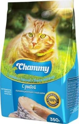 Chammy сухой для кошек 10 кг рыба