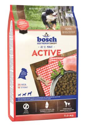 Корм Bosch Active для собак, 15кг