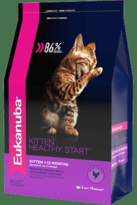 Сухой корм Eukanuba для котят/беременных/кормящих кошек, 2кг