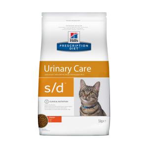 Сухой диетический корм для кошек Hill's Diet s/d Urinary Care при профилактике мочекаменной болезни (мкб) курицей, 5кг