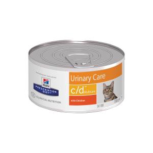Влажный диетический корм для кошек Hill's Prescription Diet c/d Multicare Urinary Care при  профилактике мочекаменной болезни (мкб), с курицей 0.156кг