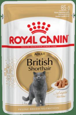 Royal Canin BRITISH SHORTHAIR ADULT 0.085кг, Влажный корм для кошек британской короткошерстной породы старше 12 месяцев
