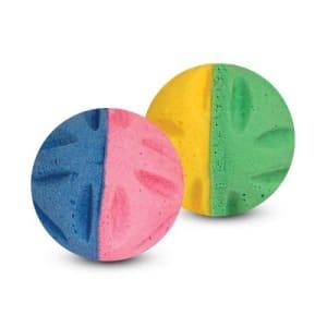 Игрушка для кошек Мяч цветочный двухцветный