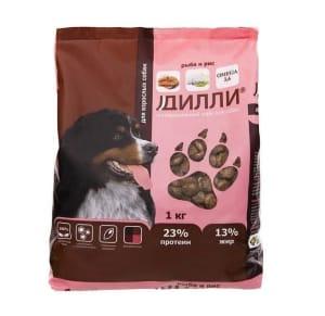 Дилли для собак рыба с рисом, 1кг