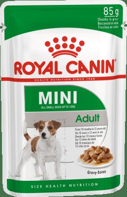 Royal Canin MINI ADULT 0.085кг, Корм для собак с 10 месяцев до 12 лет