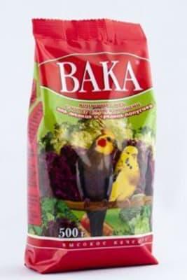 Вака корм для волнистых попугаев ВК 500 гр минералы, овощи