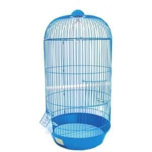 Клетка для птиц № 1 ( 33 * 53 ) круглая комплект ( 309 ) цветная