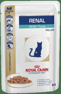 Royal Canin RENAL C ТУНЦОМ 0.085кг, Диета для кошек при хронической почечной недостаточности