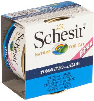 Schesir консерва со вкусом тунца и алое для котят, 0.1кг