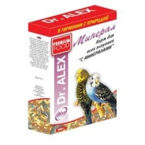 Корм для попугаев Доктор Алекс Минерал, 0.5 кг