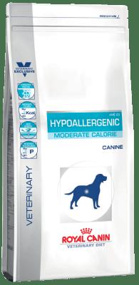 Royal Canin HYPOALLERGENIC HME 23 MODERATE CALORIE 1.5кг, Диета для собак с пищевой аллергией или непереносимостью с умеренным количеством энергии