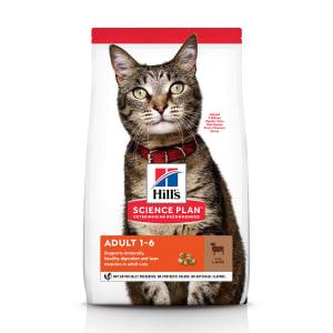 Сухой корм Hill's Science Plan для взрослых кошек для поддержания жизненной энергии и иммунитета с ягненком, 3 кг