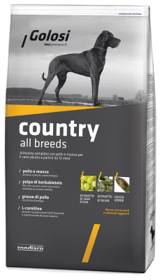 Golosi Country корм для собак со вкусом курицы и говядины, 12кг